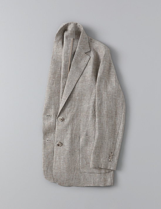 LINEN GLEN CHECK JACKET