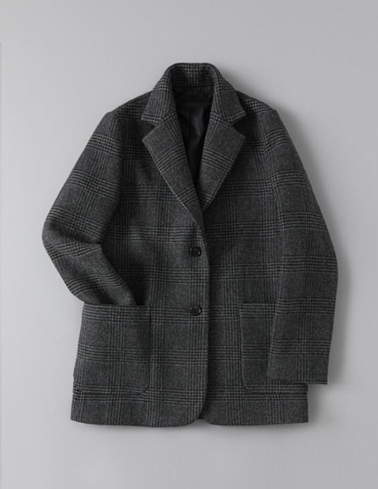 SINGLE GLEN CHECK JACKET