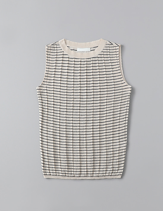 STRIPE SLEEVELESS KNIT