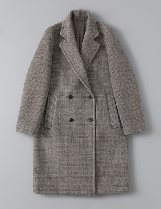 CHECK DOUBLE COAT